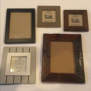 Set of 5 wooden frames